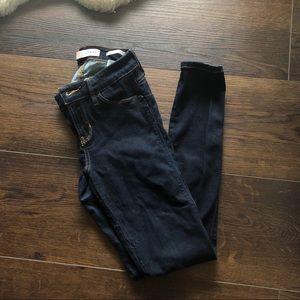 Guess CurveX dark blue skinny jeans